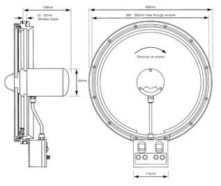 Wynn Marine Type C350 Clear View Screen Diagram