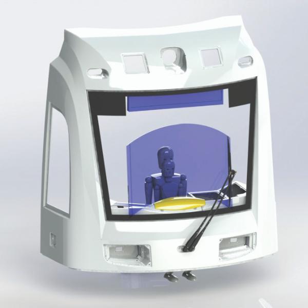 Single Pantograph Wiper 3D